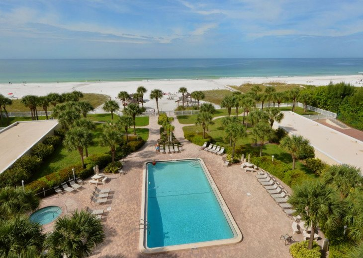 Spectacular Beachfront View and Location Directly On Siesta Key Beach Unit 404 #1