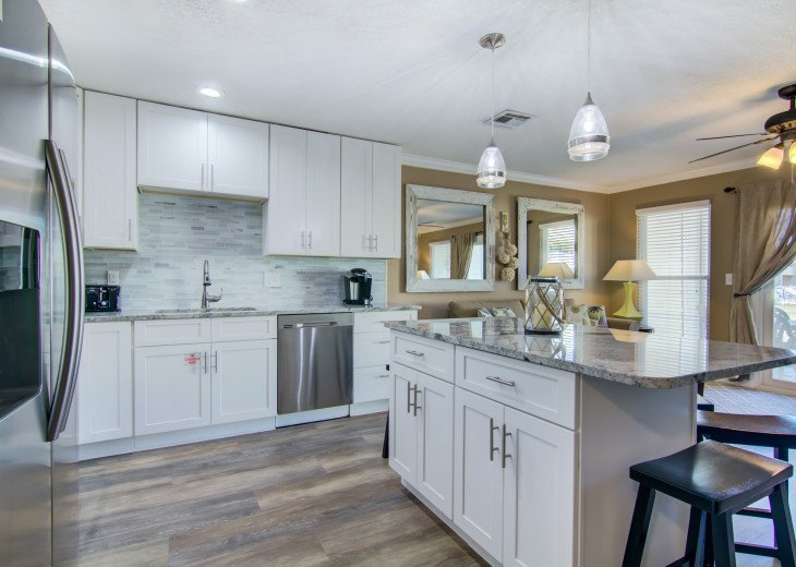 Beautifully remodeled kitchen with plenty of space.
