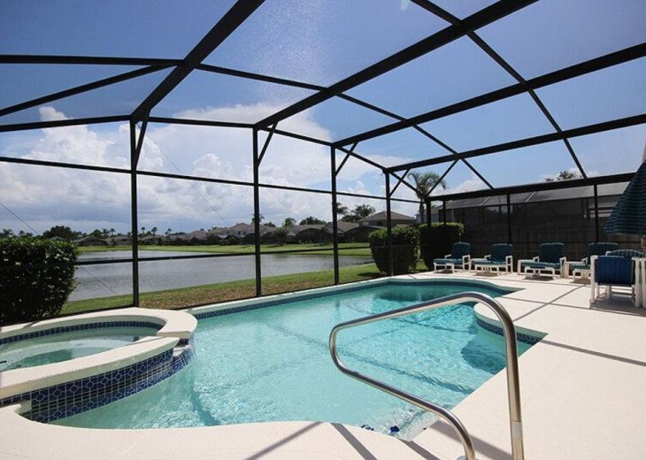 South-facing, private pool/spa, interior games room, Wifi, monitored alarm #1