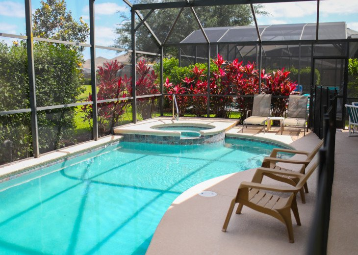 Screened in private pool