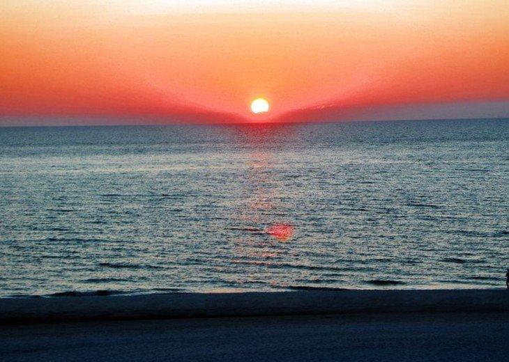 Sun Setting at the Treasure Island Beach at Sunset Vistas.