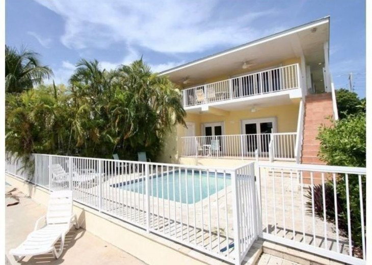 Heated Private Pool Plus Additional Lounging Area Overlooking Canal