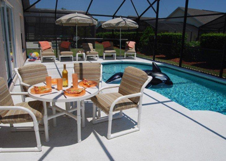 LUXURY 5 Bed 3 Bath - South facing pool vacation rental Villa near Disney #1