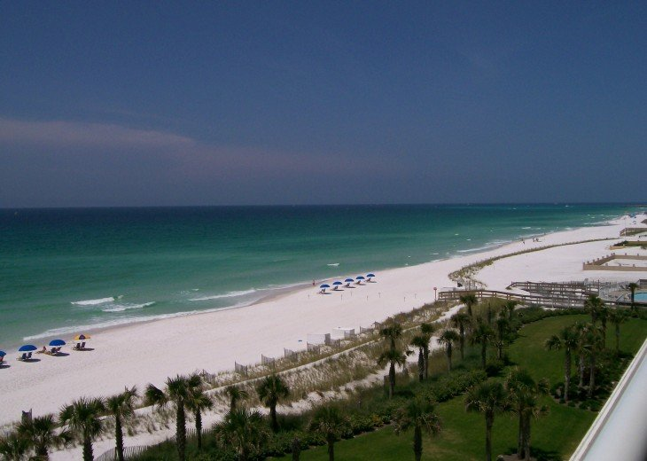 Spectacular direct beach front views. Comfortable furniture on 40 ft balcony! #1