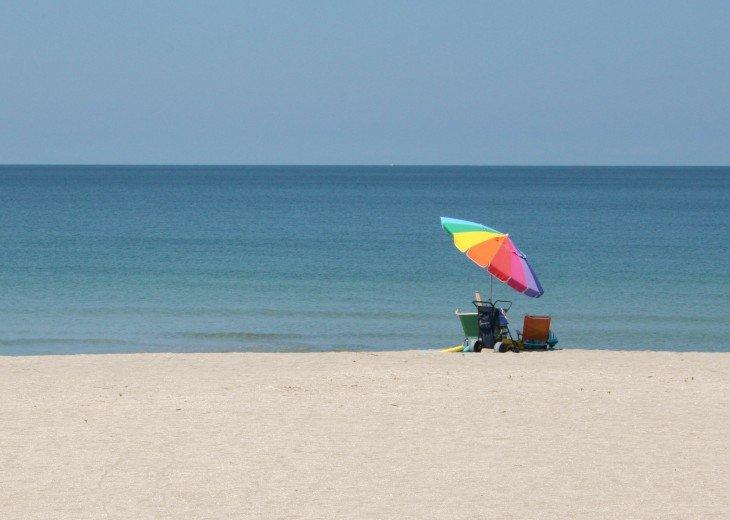 Private beach, kinda crowded