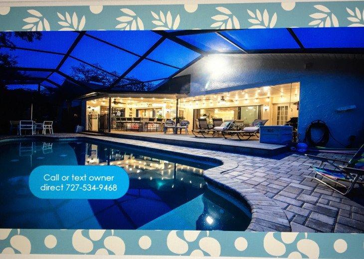 Tropical Resort Pool/Spa Home 4Kings 1Queen Sleeps 8 adults 2 babies #1