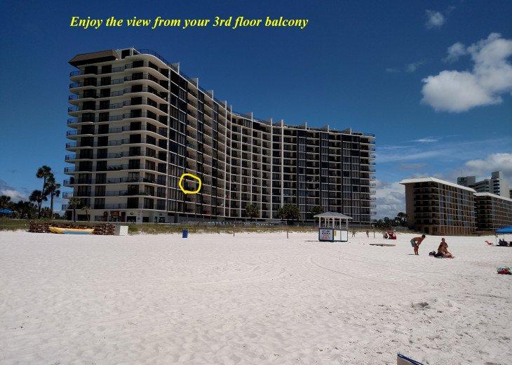 Ocean Front Deluxe 2 BR/ 2BA 3rd Floor, Tower 3, Edgewater Beach Resort #1