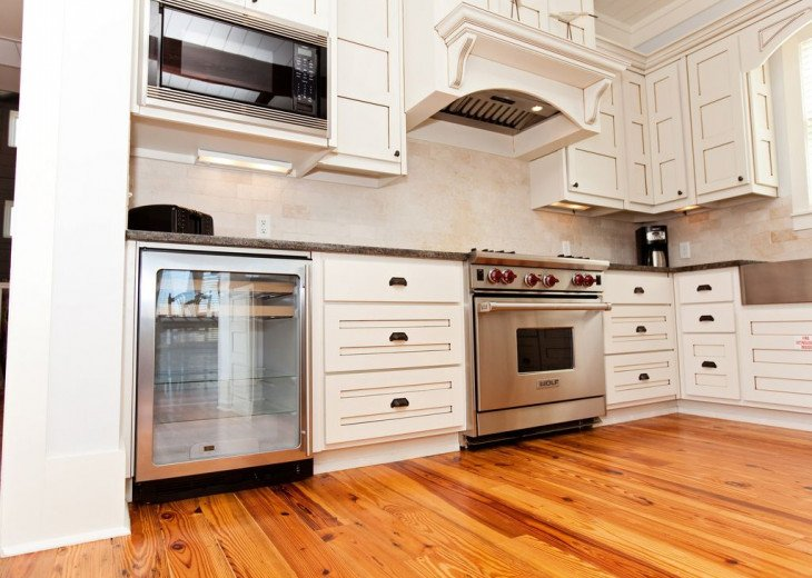 Third floor Kitchen has Sub Zero, Wolf appliances.