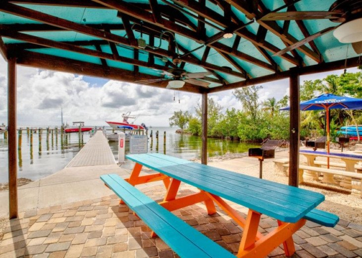 Picnic and Grilling Area by Docks (Dockage not Available with this Unit)