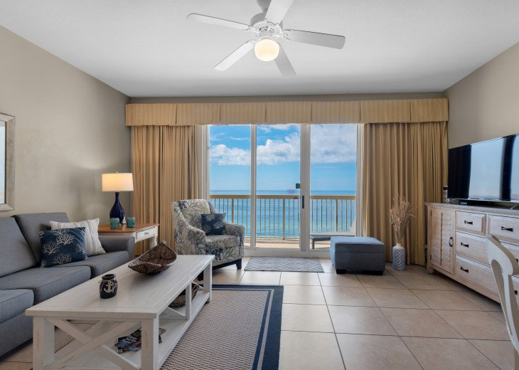 Main Living area is spacious & bright w/ access to private balcony~endless views