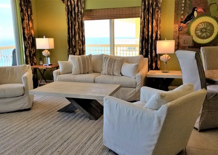 Spacious main living area w/ wrap around balcony are fabulous! View is amazing!
