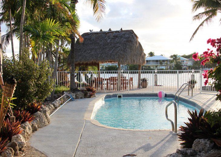 Tropical Pool Home with Tiki Hut & 60' Dock #1