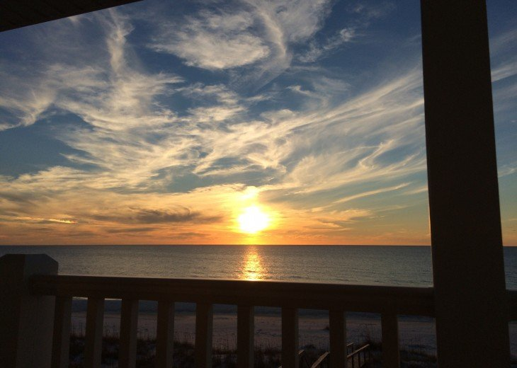 Sunset from the 'Sunflower' King Master suite deck