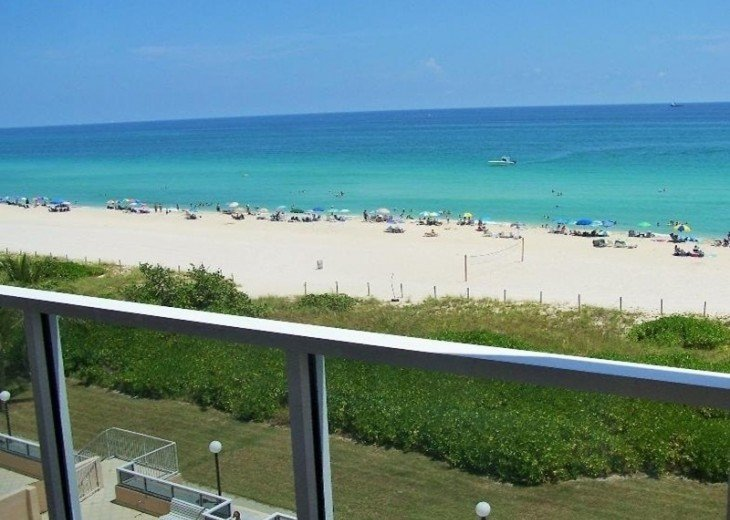 Spectacular oceanfront view from balcony.