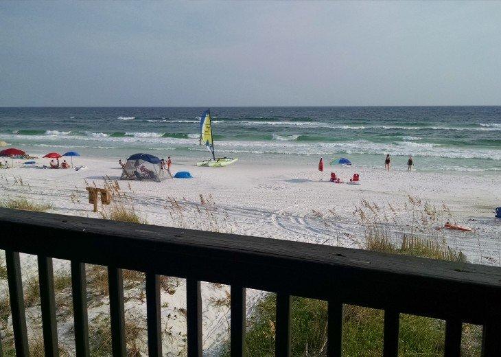 Destin, FL Sanddollar Rental: 4 BR 4 BA: view from 3 decks; step down to beach