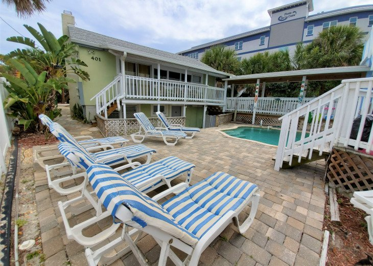 Oceanfront Cocoa Beach Cottage with Pool & Private Beach Access, Sleeps 10 #1