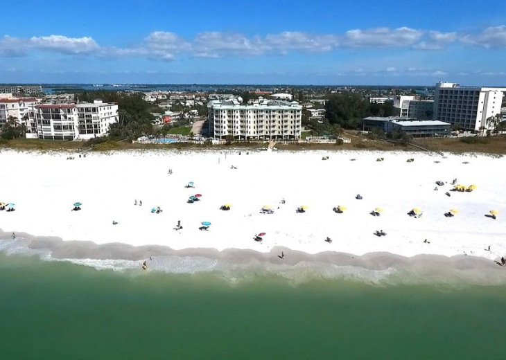 """One of the """"Top 10"""" beaches of the world at your disposal in Treasure Island."""