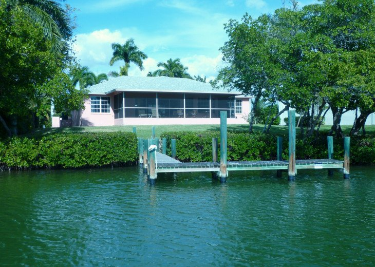 home on Estero Bay with private boat dock