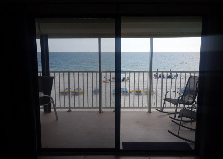 Directly on the Gulf of Mexico - view from the living room
