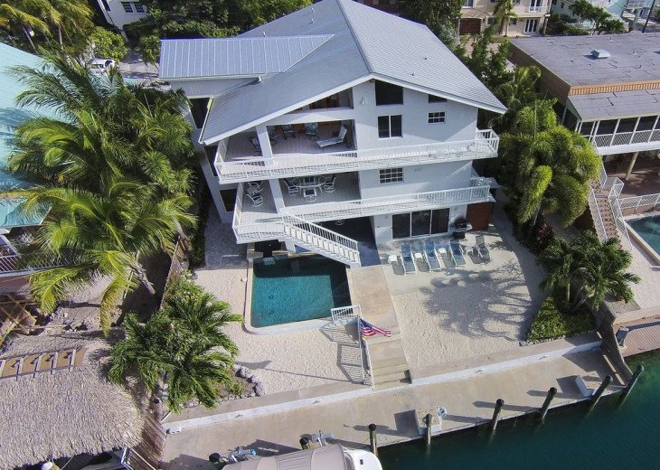 Aerial - Waterfront Side of House