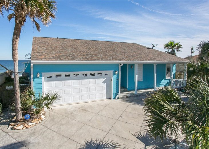 3 bedroom, 2 bath, pet friendly home located right on the beach. Fenced yard. #1