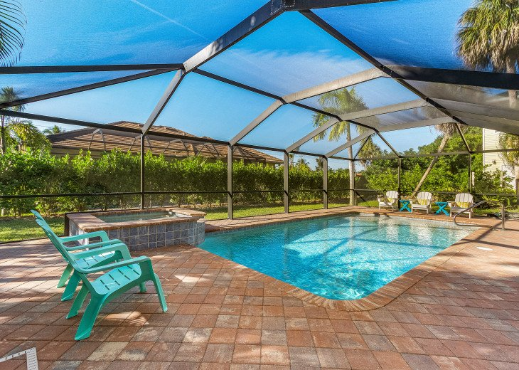 14 X 28 Heated Pool and Spa with Sunshelf and Awesome Privacy