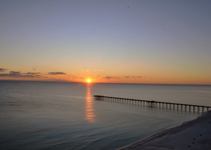 Sunset view from your private balcony!