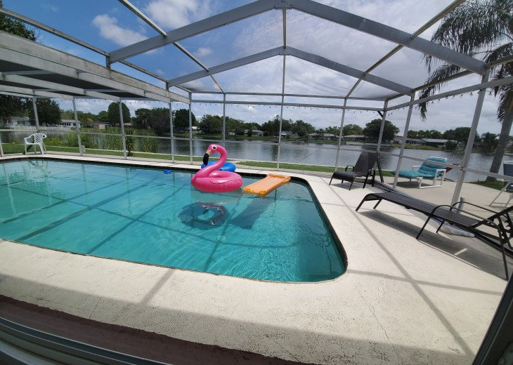 Near Beach Luxury Private Waterfront HEATED Pool Home Sleeps 12 #1