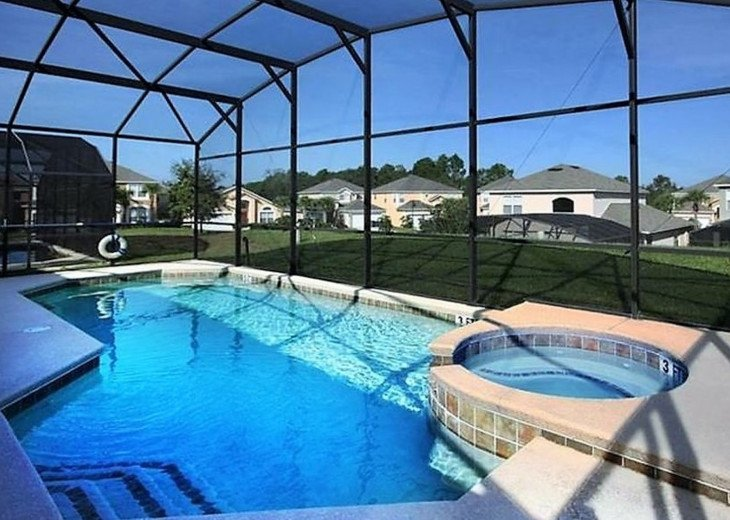 Luxury 8bd/4.5ba, Pool with SPA, WiFi, Man-Guarded resort, 3 Miles To Disney #1