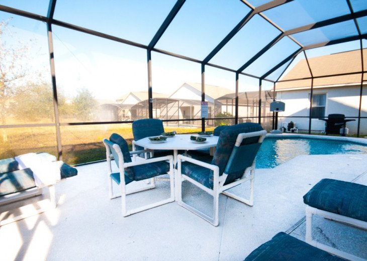 Large pool deck, great for sunbathing and Al Fresco dining next to your own pool