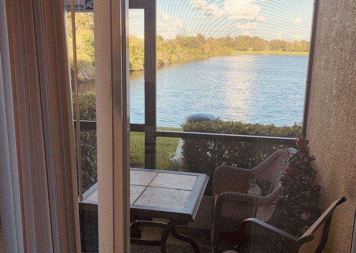 Beautiful, serene lakeview on screened in lanai