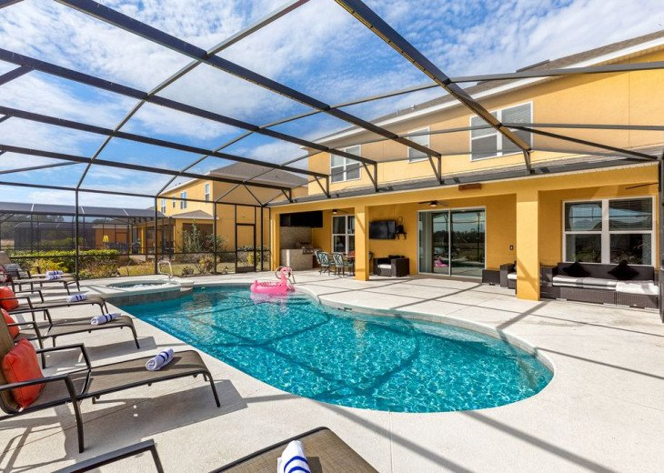 NEW OUTDOOR GRILL,Large South POOL, great service,Near DISNEY'S area +more !!!!! #1
