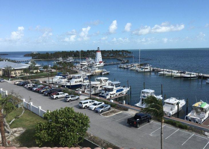View of marina from condo balcony.