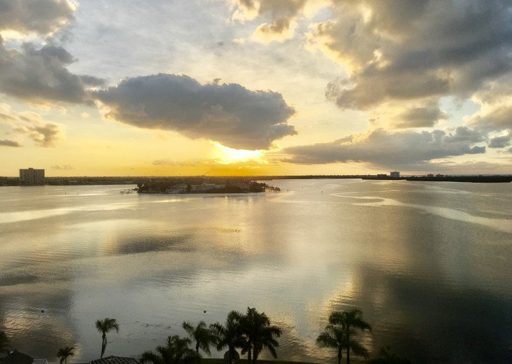 Water view living on Tampa Bay - see manatees and dolphins from balcony #1