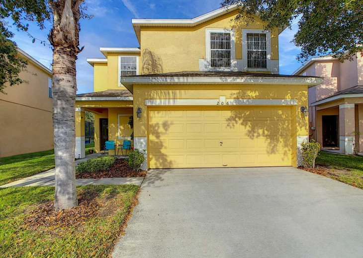 STAY SAFE-CONTACTLESS CHECKIN - LARGE VILLA -PRIVATE POOL/ GAMES ROOM NR DISNEY #1