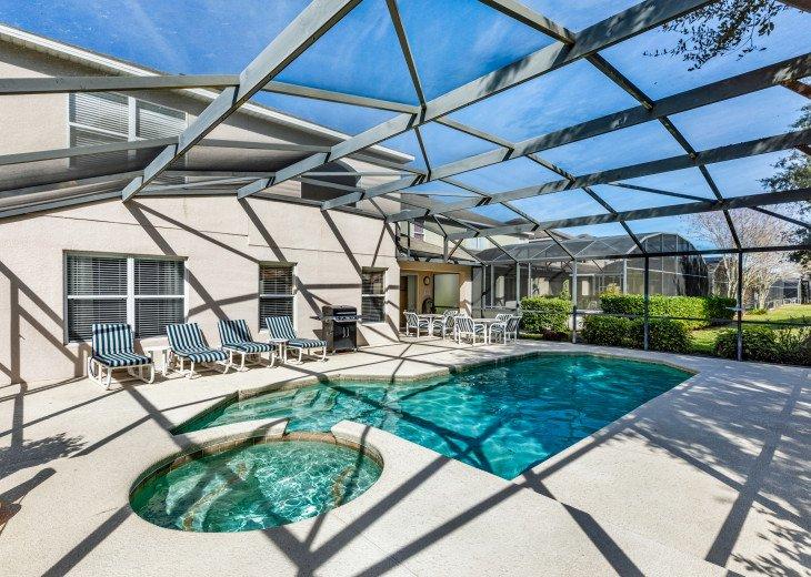 5 BR Emerald Island Villa mins from Disney, South Facing Pool, Huge Corner Lot! #1