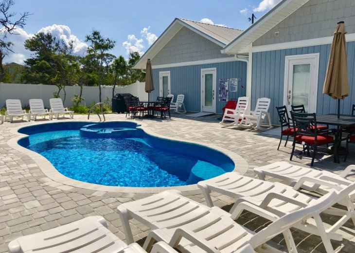All one level. Private pool. Short walk to beach. Beach chairs & cart provided #1