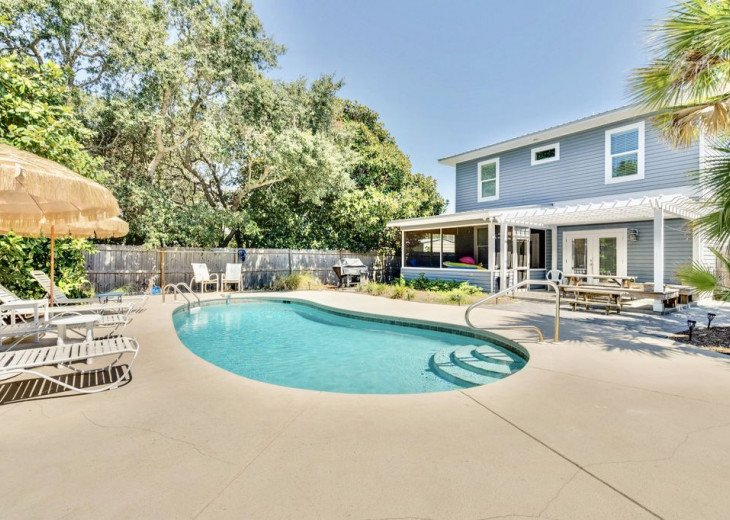 6 Bed 6 Bath with Private Heated Pool. 1 block to Beach! #1