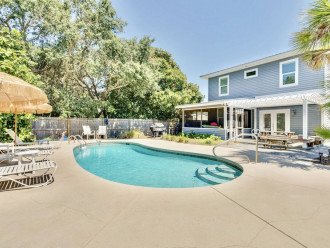6 Bed 6 Bath with Private Heated Pool. 1 block to Beach!