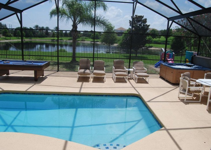 CLOSE to Disney! 4 KING beds, pool/spa * Lakeview * Pool table * GREAT reviews #1