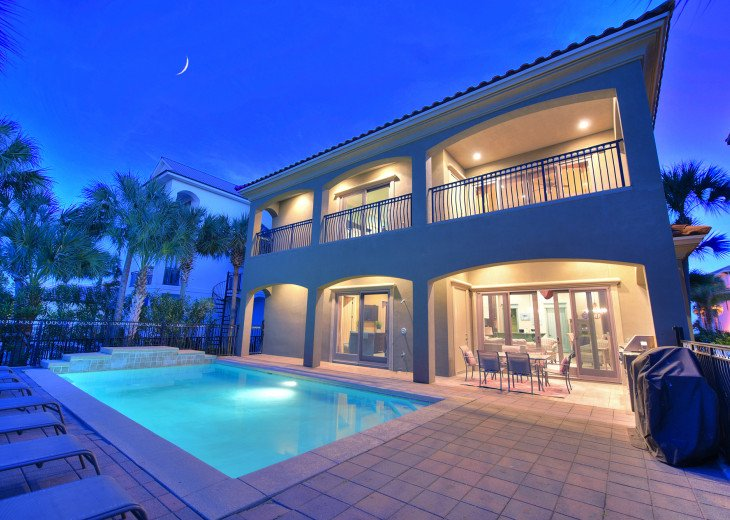 Emerald Palace. Emerald Palace | 7br Waterfront Mansion | Heated Pool | #1