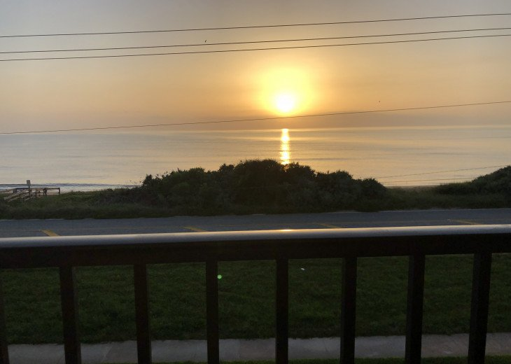 Sunrise over Atlantic ocean from private balcony