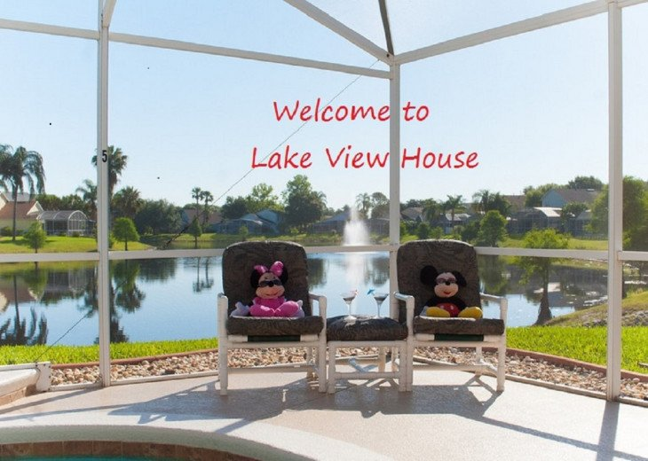 Stunning Lake View House 2mls Disney,free Wi-FI,games room,spa #1
