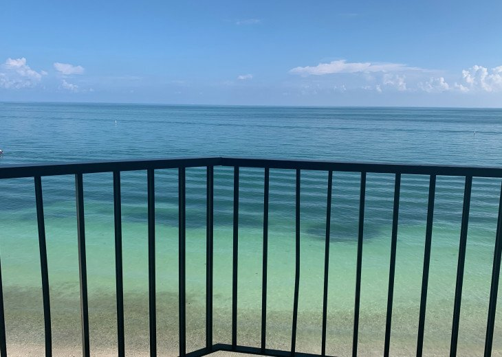 Directly Off The Balcony-Crystal Clear Sea
